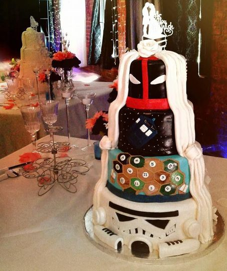 Pop culture themed cake