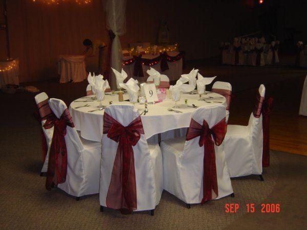Tmx 1268666677736 RedandYellowchaircoversSept20006044 Stevensville wedding rental