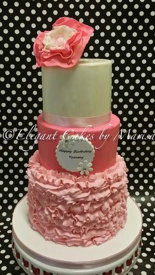 Birthday cake with custom decorations