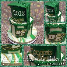 Graduation cake with custom