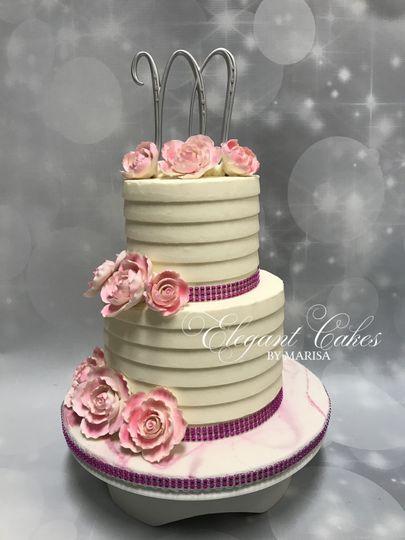 2 tiered wedding cake