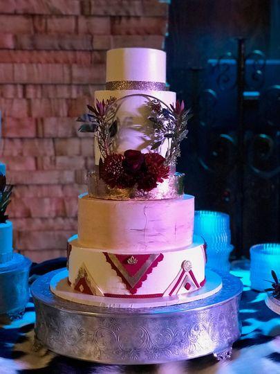 Elegant Western Wedding cake