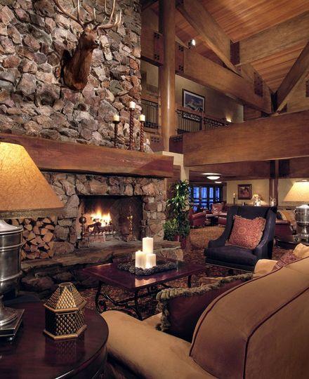 Inside of Stein Eriksen Lodge