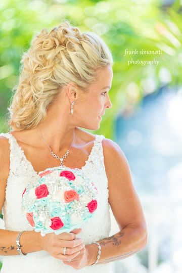 Beautiful backdrop at the Sundial Resort for bridal pictures