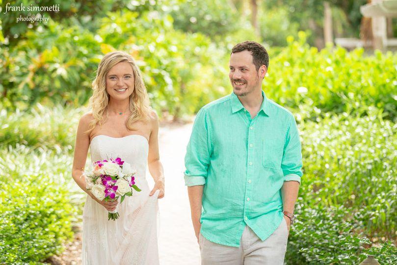 Wedding couple enjoy Casa Ybel Resort on Sanibel Island