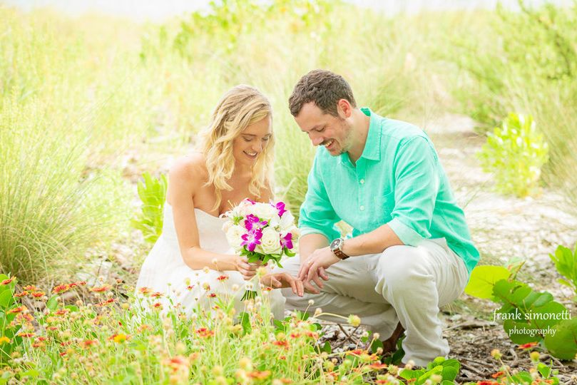 Beautiful beach at Casa Ybel Resort for this wedding couple