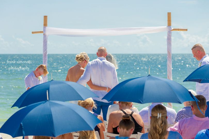 Tween Waters Inn is the venue for this wedding on Captiva Island