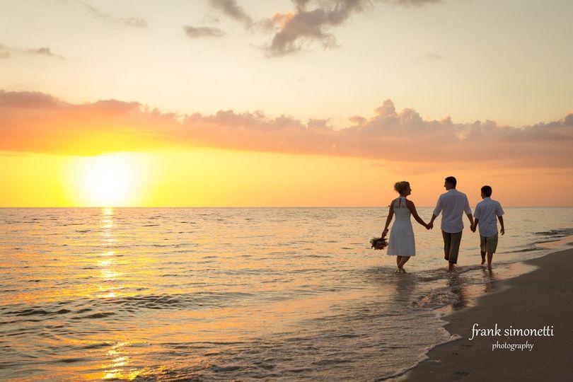 Sunset wedding on Sanibel Island