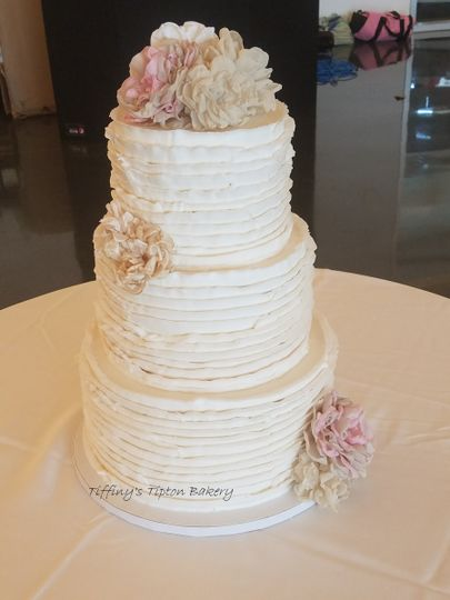 ruffled three tier