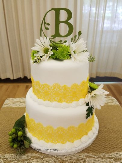 yellow edible lace