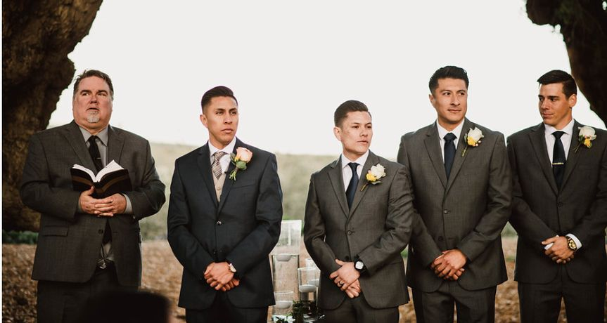 don and groomsmen
