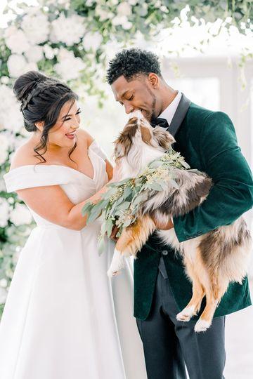 Winter emerald wedding