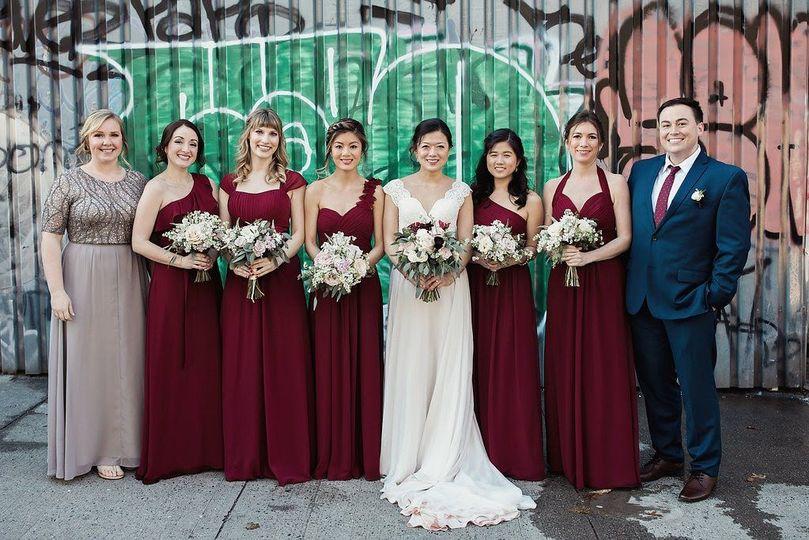 Renita and her bridesmaids