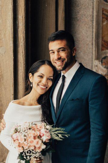 Jimena and Brandon NYC eloping wedding