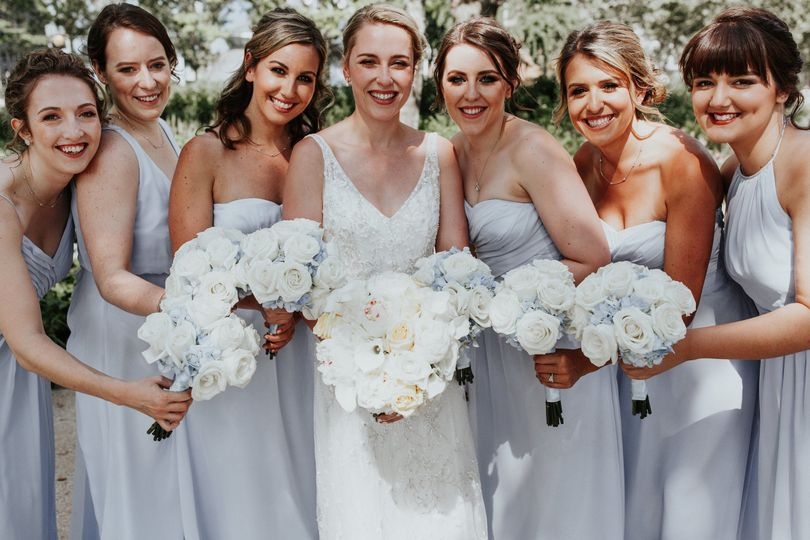 Lucy and her bridesmaids