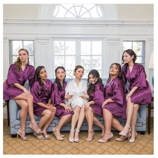 Hair and Makeup for Vanessa and her bridal party
