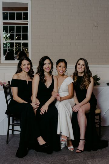 Bride Katie and her squad