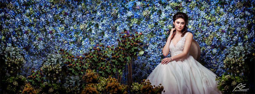 nicol floral design flower wall bridal 2