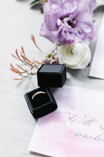 beautiful ring box with flowers by Nancy Liu Chin Designs with Image by Jasmine Lee