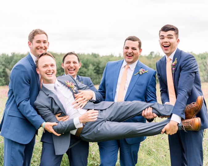 Groomsmen being guys