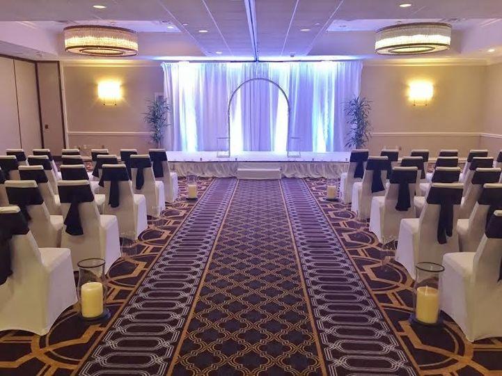 Indoor wedding setup