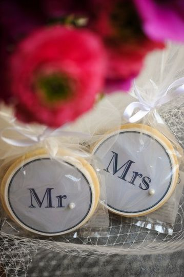 Edible Image on Custom Sugar Cookie with Pearl Accents {Photograph Compliments of Jen Fariello...