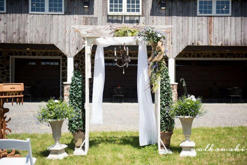 Ceremony Arbors and Chandelier Rentals