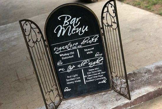 Tmx Bar Menu Custom Chalkboard By Journey Eleven 51 972916 159993889889803 Wausau, WI wedding rental