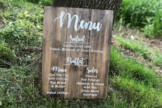 Tmx Custom Build Dinner Menu Sign By Journey Eleven 51 972916 159993889852010 Wausau, WI wedding rental
