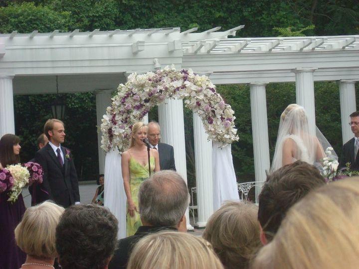 Timatha Kasten vocalist performing during outdoor Wedding ceremony