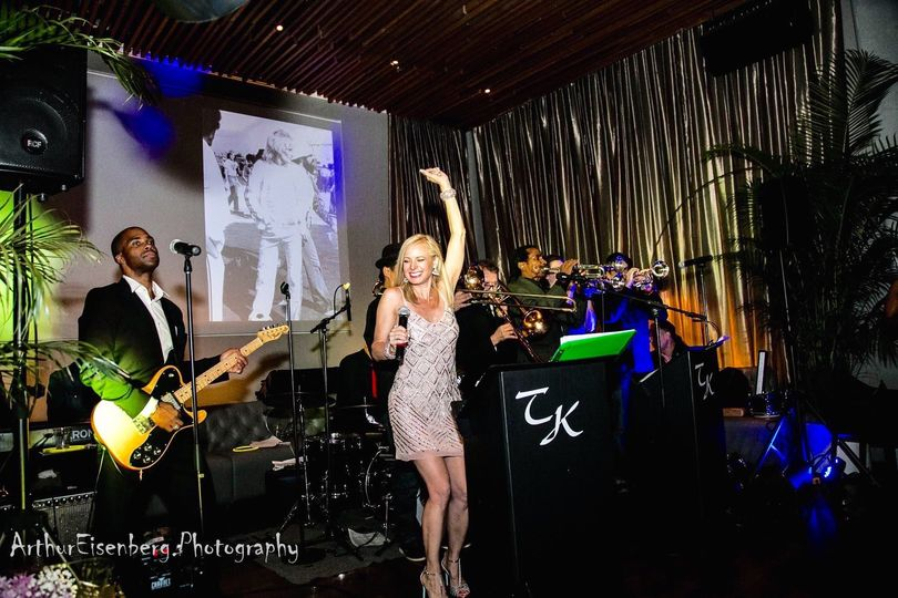 Timatha Kasten & Her TKO R&B Party Band performing at the Row Hotel NYC