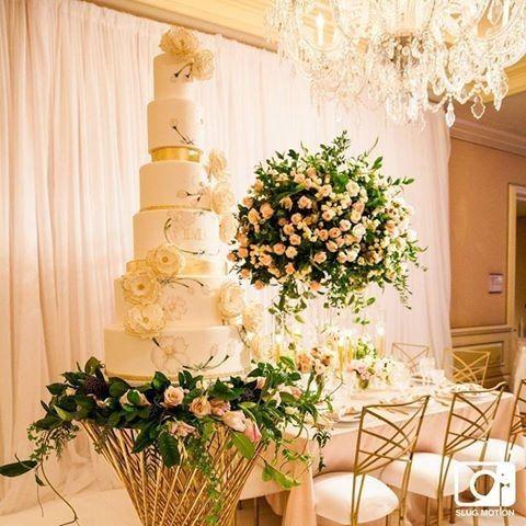 Tall white cake