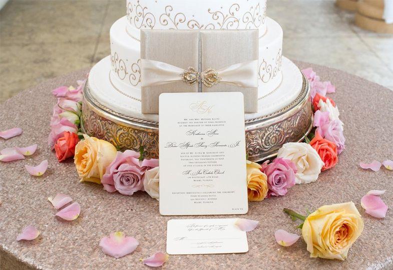 Invitation and cake Invitations By Leston