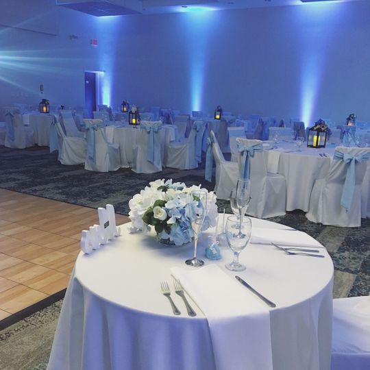 Cape Ballroom with Uplighting