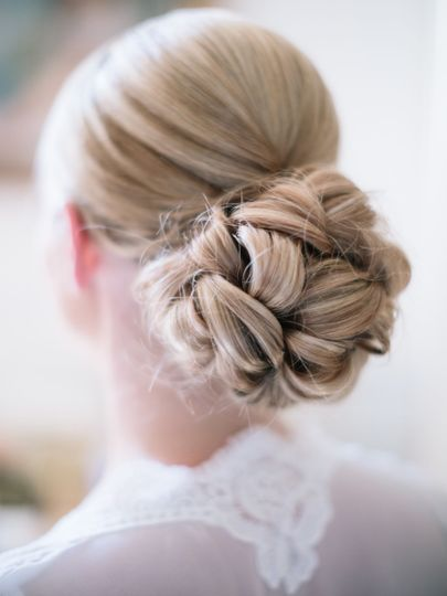 Bridal Chignon Closeup