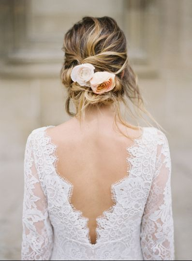 Loose Romantic Bridal Updo