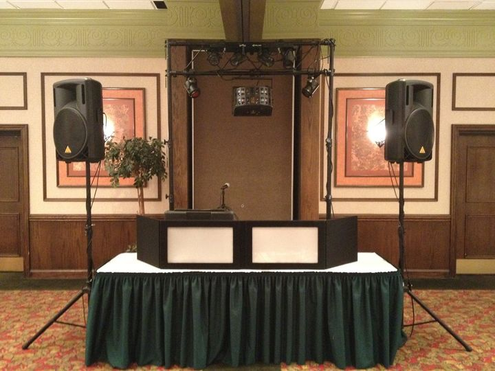 Our Set Up is professional and accommodating. No wires in your wedding photos. www.bookthatdj.com