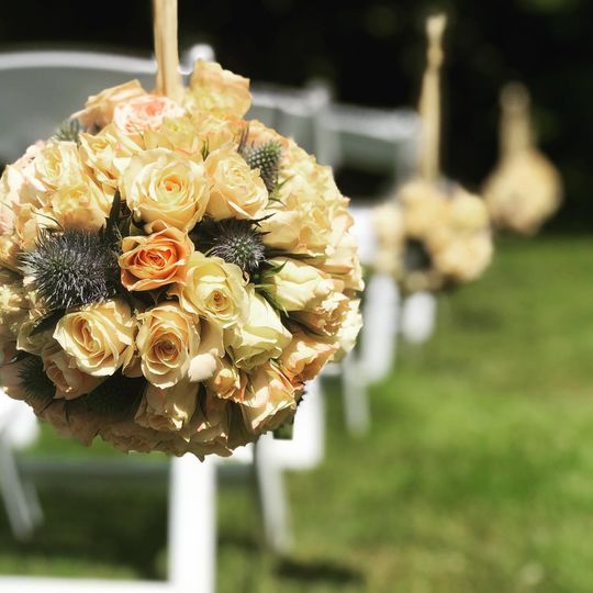 Floral Aisle Markers
