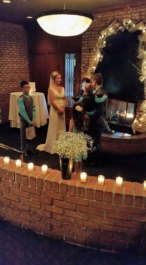 Officiant blessing the union