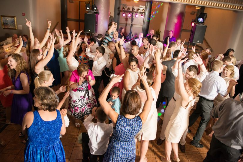 Dance floor with live band