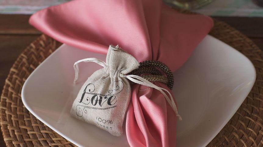 Pink table napkin