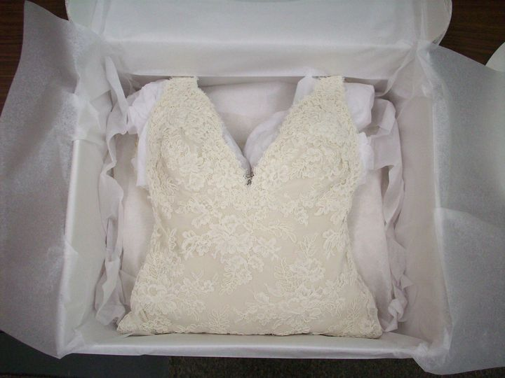 Clean boxed gown