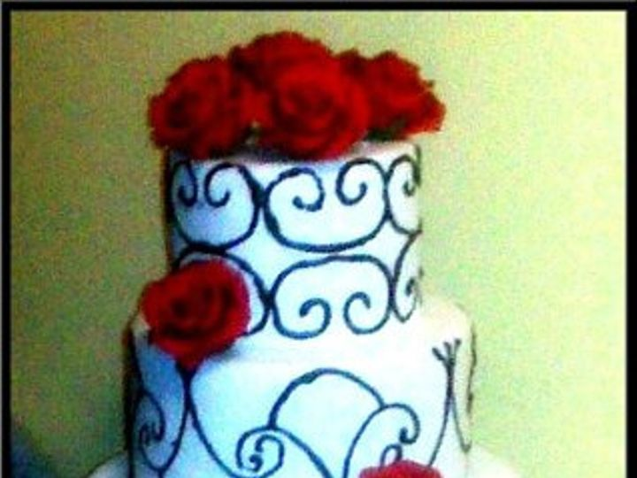 Tmx 1279337416612 Lacenroses Brooklyn wedding cake