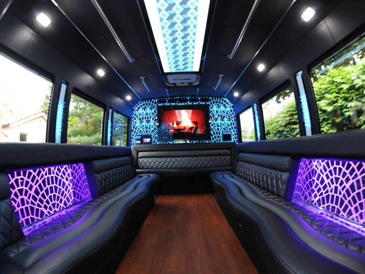 Tmx 1484249612365 Platinum 1 Party Bus Interior Lighting Brunswick wedding transportation