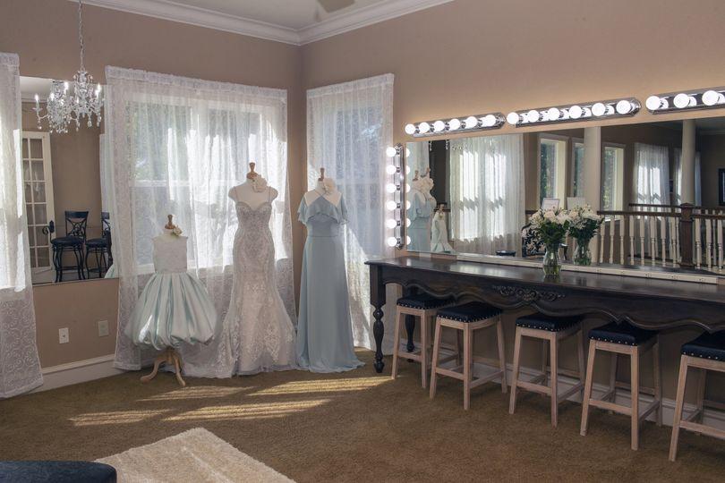 Bridesmaids Dressing Area