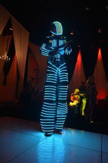 Tall LED dancers