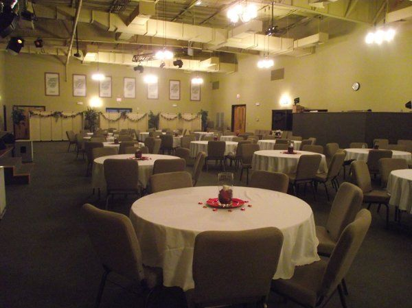 Life Community Church had the sanctuary set up for a date night event for church couples.