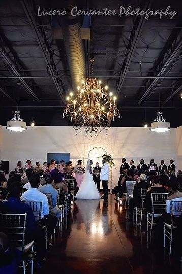 Indoor wedding at The Manderley