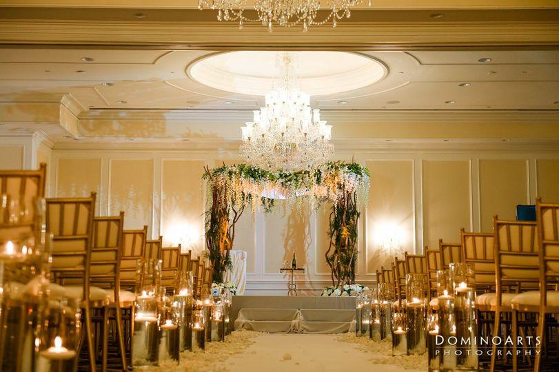 Ceremony White & Gold Ballroom