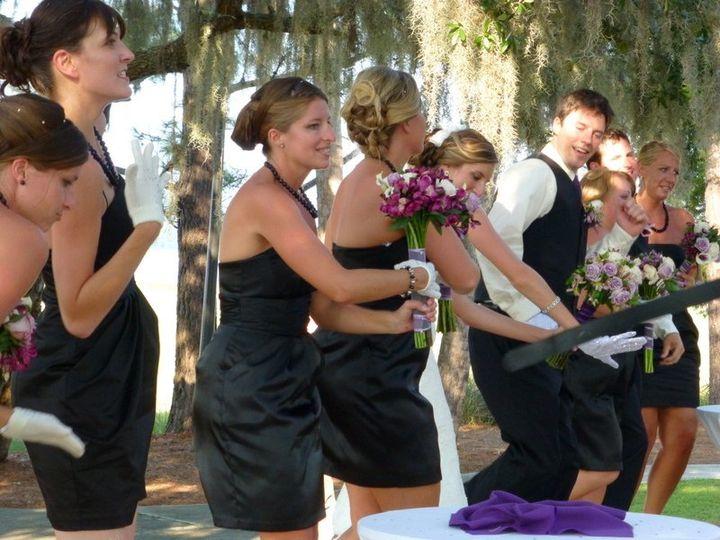 Bridesmaids got everyone happy and dancing
